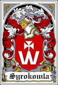 Polish Coat of Arms Bookplate for Syrokomla