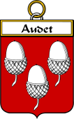 French Coat of Arms Badge for Audet