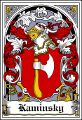 Polish Coat of Arms Bookplate for Kaminsky