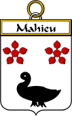 French Coat of Arms Badge for Mahieu