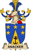 Republic of Austria Coat of Arms for Anacker
