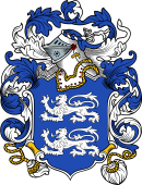 English or Welsh Coat of Arms for Bourne (London 1570)