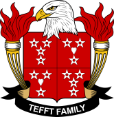 American Coat of Arms for Tefft