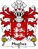 Welsh Coat of Arms for Hughes (Huys-of Llewerllyd, Diserth, Flint)