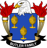 American Coat of Arms for Butler