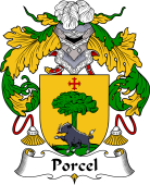 Portuguese Coat of Arms for Porcel