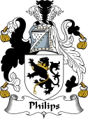 English Coat of Arms for Philips or Phillips