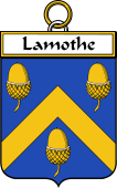 French Coat of Arms Badge for Lamothe or Lamotte