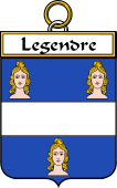 French Coat of Arms Badge for Legendre
