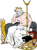 Gods and Goddesses Clipart image: Pluto-Hades