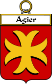 French Coat of Arms Badge for Agier