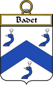 French Coat of Arms Badge for Badet