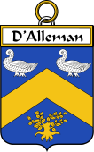 French Coat of Arms Badge for d'Alleman