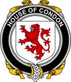 Irish Coat of Arms Badge for the CONDON family