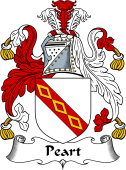 English Coat of Arms for Peart or Pert