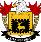 American Coat of Arms for Hopkins