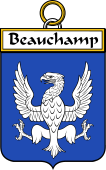 French Coat of Arms Badge for Beauchamp