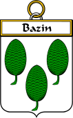 French Coat of Arms Badge for Bazin