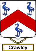 English Coat of Arms Shield Badge for Crawley