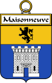 French Coat of Arms Badge for Maisonneuve