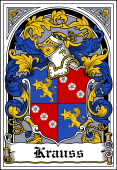 German Wappen Coat of Arms Bookplate for Krauss