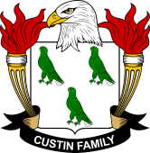 American Coat of Arms for Custin
