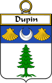 French Coat of Arms Badge for Dupin