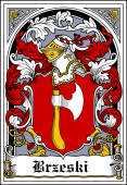 Polish Coat of Arms Bookplate for Brzeski