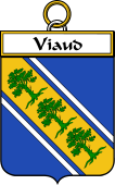 French Coat of Arms Badge for Viaud