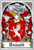 German Wappen Coat of Arms Bookplate for Dewald