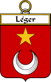 French Coat of Arms Badge for Léger