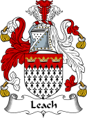 English Coat of Arms for Leach or Leech