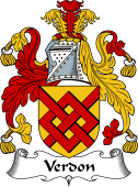 English Coat of Arms for Verdon