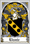 Polish Coat of Arms Bookplate for Elsnic