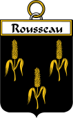 French Coat of Arms Badge for Rousseau