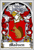 Danish Coat of Arms Bookplate for Madsen