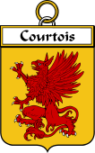 French Coat of Arms Badge for Courtois
