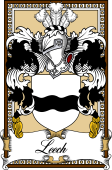 Scottish Coat of Arms Bookplate for Leech