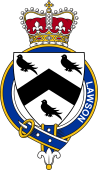 British Garter Coat of Arms for Lawson (England)