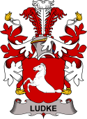 Danish Coat of Arms for Ludke