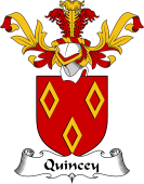 Coat of Arms from Scotland for Quincey or Quincy