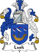 English Coat of Arms for Lusk