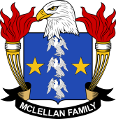 American Coat of Arms for McLellan