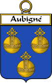 French Coat of Arms Badge for Aubigné