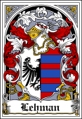 German Wappen Coat of Arms Bookplate for Lehman