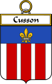French Coat of Arms Badge for Cusson