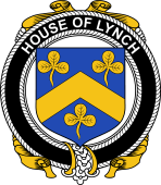 Irish Coat of Arms Badge for the LYNCH family