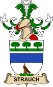 Republic of Austria Coat of Arms for Strauch