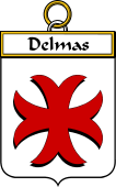 French Coat of Arms Badge for Delmas