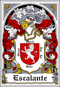 Spanish Coat of Arms Bookplate for Escalante